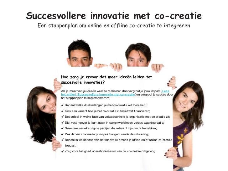 Succesvollere innovatie met co-creatie  Een stappenplan om online en offline co-creatie te integreren           Hoe zorg j...