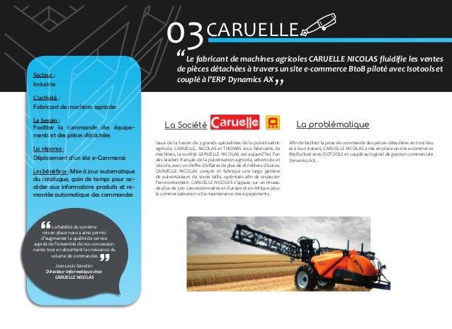 03 CARUELLE � Secteur : Industrie  Le fabricant de machines agricoles CARUELLE NICOLAS fluidifie les ventes de pièces déta...