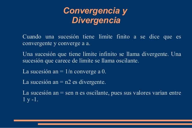 Resultado de imagen para divergencia convergencia matematicas