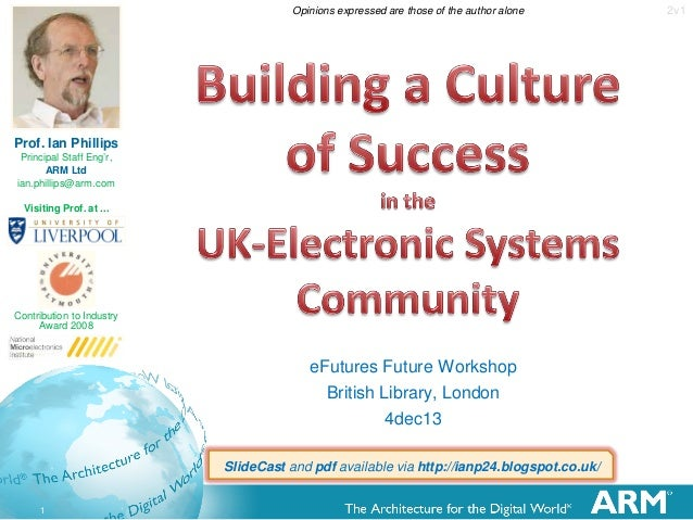 Opinions expressed are those of the author alone  Prof. Ian Phillips Principal Staff Eng'r, ARM Ltd ian.phillips@arm.com V...
