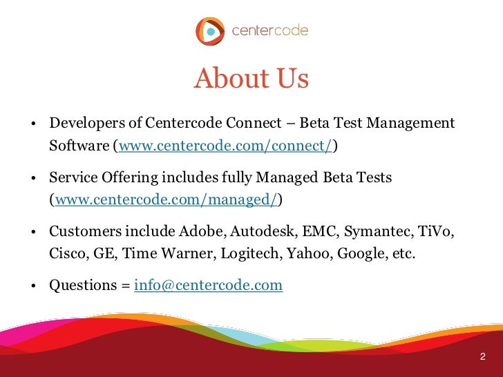 Successful Beta Testing Slide 2