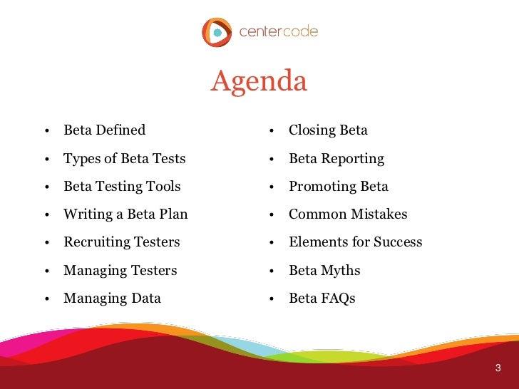 Successful Beta Testing Slide 3