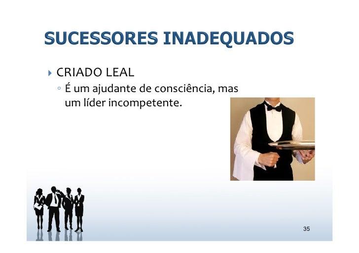 } CRIADO LEAL   ◦ É um ajudante de consciência, mas      um líder incompetente.                  ...