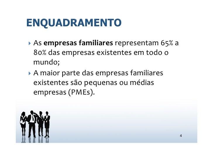 } As empresas familiares representam 65% a     80% das empresas existentes em todo o     mundo...