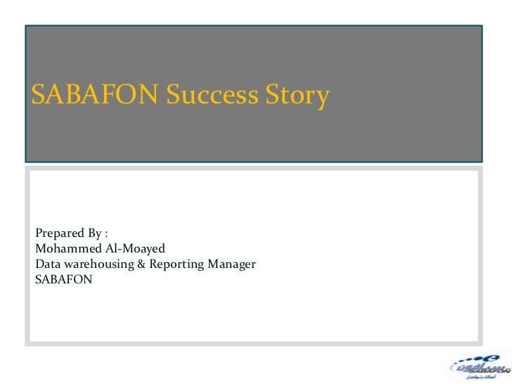 SABAFON Success Story                                           Strategy and Roles                                        ...