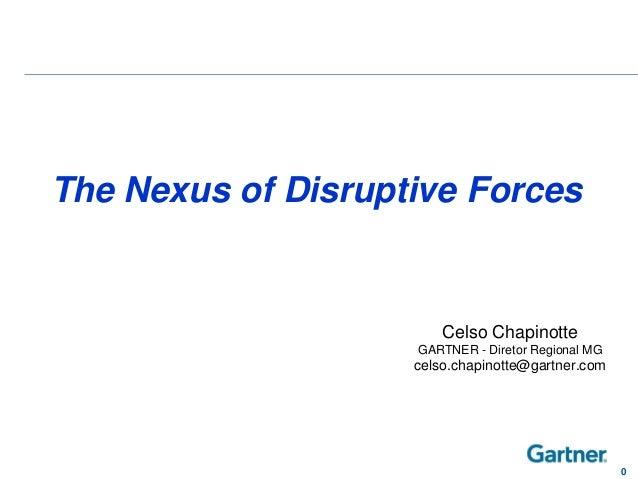 Celso ChapinotteGARTNER - Diretor Regional MGcelso.chapinotte@gartner.com0The Nexus of Disruptive Forces