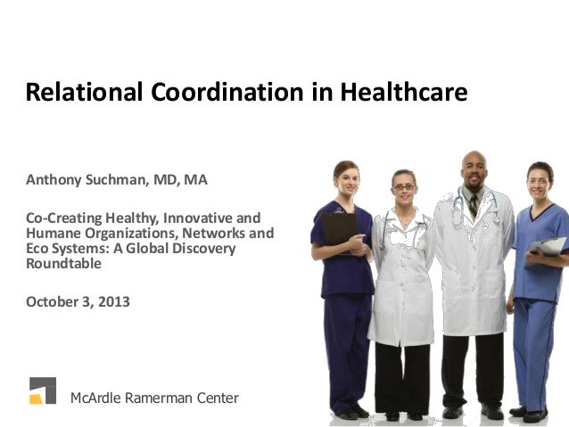 Relational Coordination in Healthcare Anthony Suchman, MD, MA Co-Creating Healthy, Innovative and Humane Organizations, Ne...