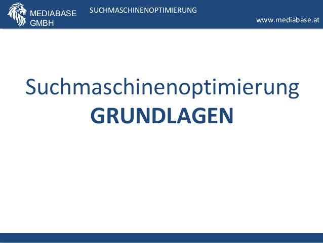 MEDIABASE   SUCHMASCHINENOPTIMIERUNG             SUCHMASCHINENOPTIMIERUNGGMBH                                    www.media...