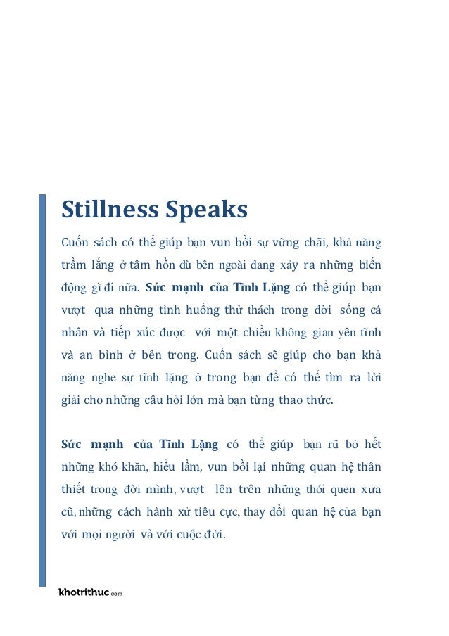 Suc manh cua su tinh lang stillness speaks-eckhart tolle-pdf-ebook-online Slide 2