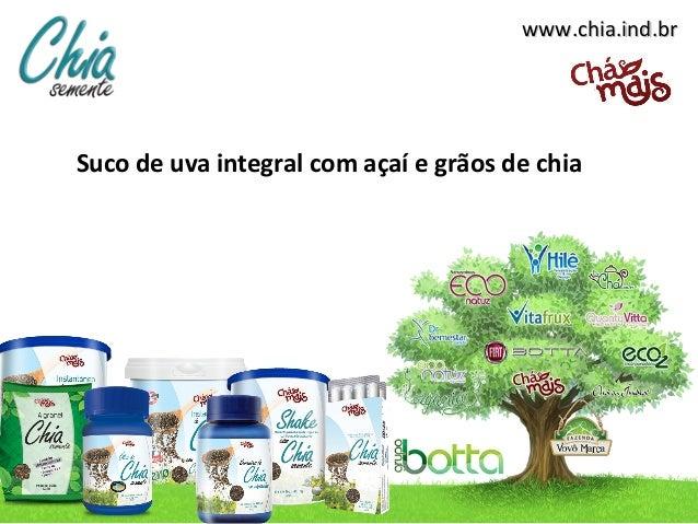 www.chia.ind.brwww.chia.ind.br Suco de uva integral com açaí e grãos de chia