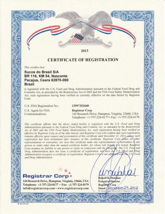 Register with FDA | Registrar Corp