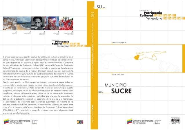 VenezolanoTodas las manifestaciones culturales contenidas en este Catálogo, elaboradoen ocasión del I Censo del Patrimonio...