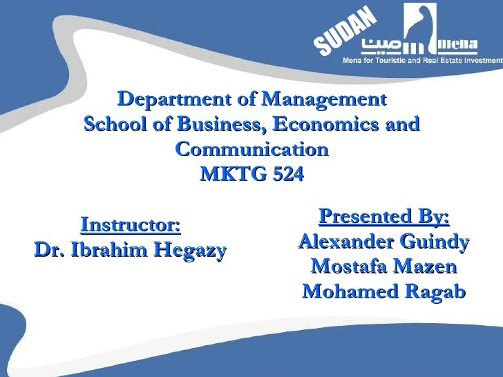 Department of Management School of Business, Economics and Communication MKTG 524 Instructor: Dr. Ibrahim Hegazy Presented...
