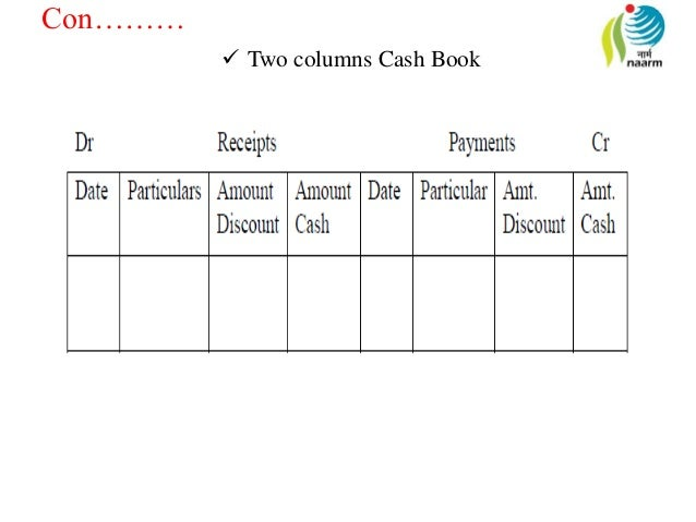 Cashbook passbook and brc two columns cash book ccuart Image collections
