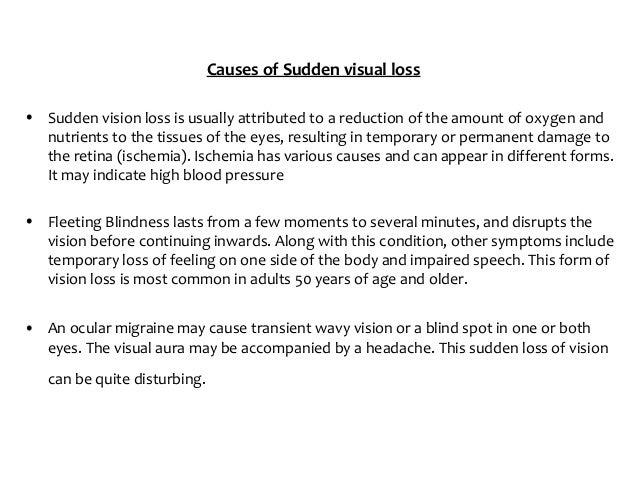 Sudden Vision Loss