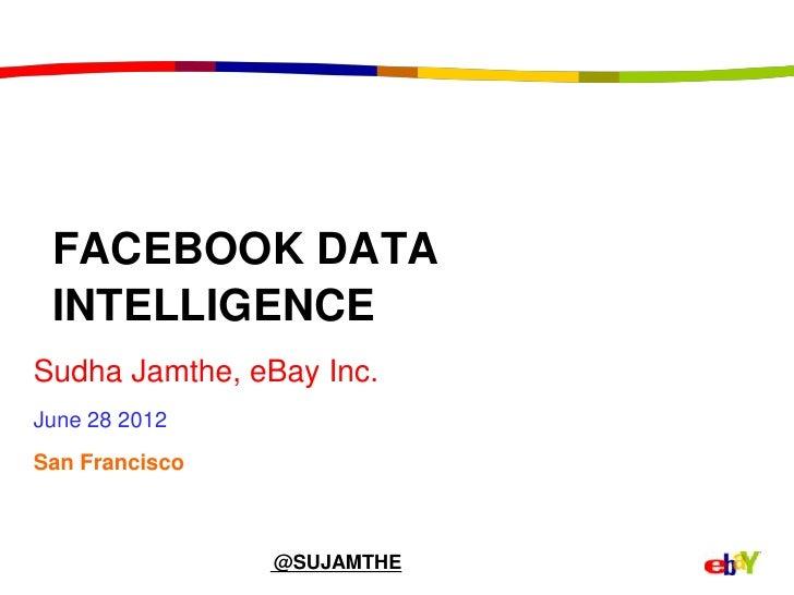 FACEBOOK DATA INTELLIGENCESudha Jamthe, eBay Inc.June 28 2012San Francisco                @SUJAMTHE