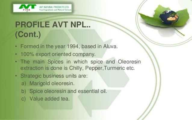 Avt Natural Products Company Profile