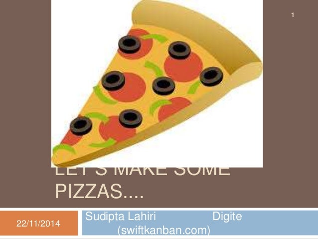 LET'S MAKE SOME  PIZZAS....  Sudipta Lahiri Digite  (swiftkanban.com)  22/11/2014  1