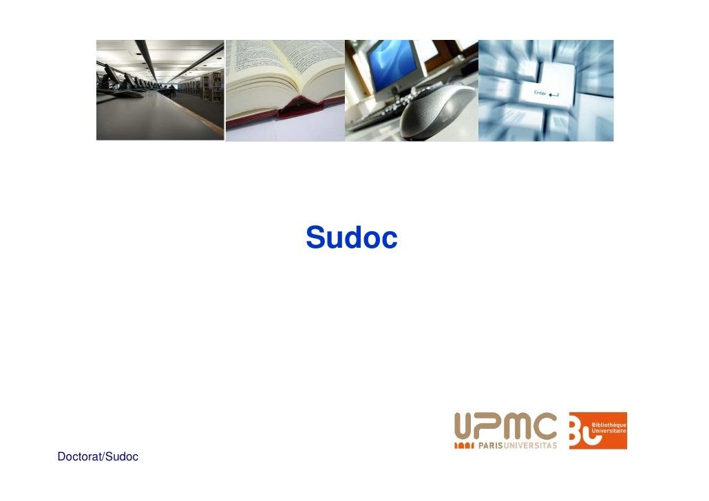 Sudoc     Doctorat/Sudoc
