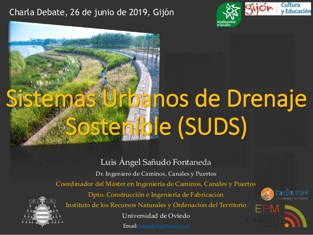 Luis Ángel Sañudo Fontaneda Dr. Ingeniero de Caminos, Canales y Puertos Coordinador del Máster en Ingeniería de Caminos, C...