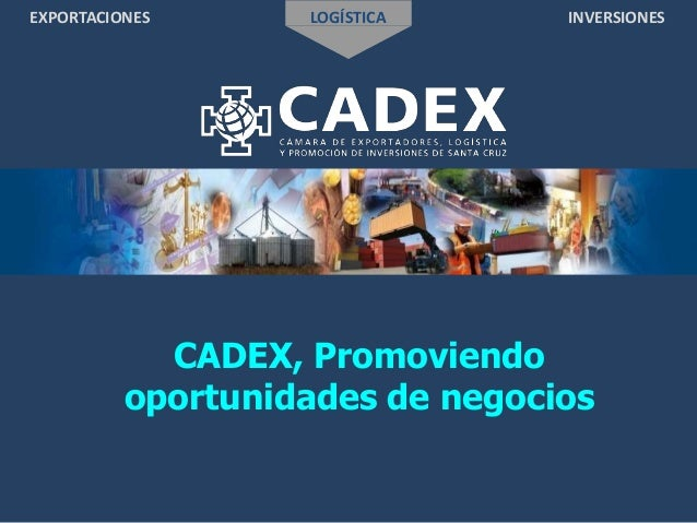 EXPORTACIONES LOGÍSTICA INVERSIONES CADEX, Promoviendo oportunidades de negocios