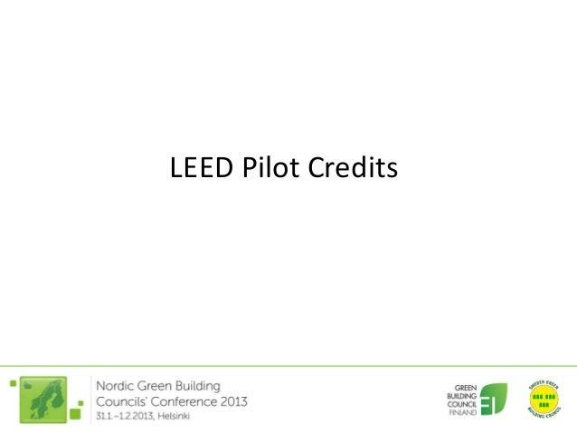 LEED Pilot Credits