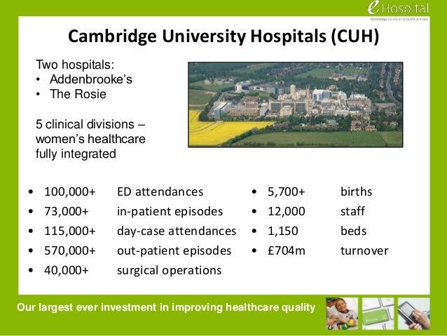 eHospital - changing everything we do at Cambridge University Hospita…