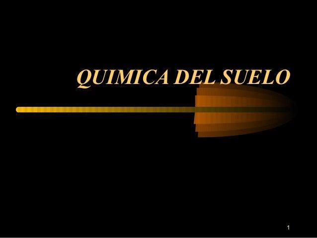 QUIMICA DEL SUELO  1