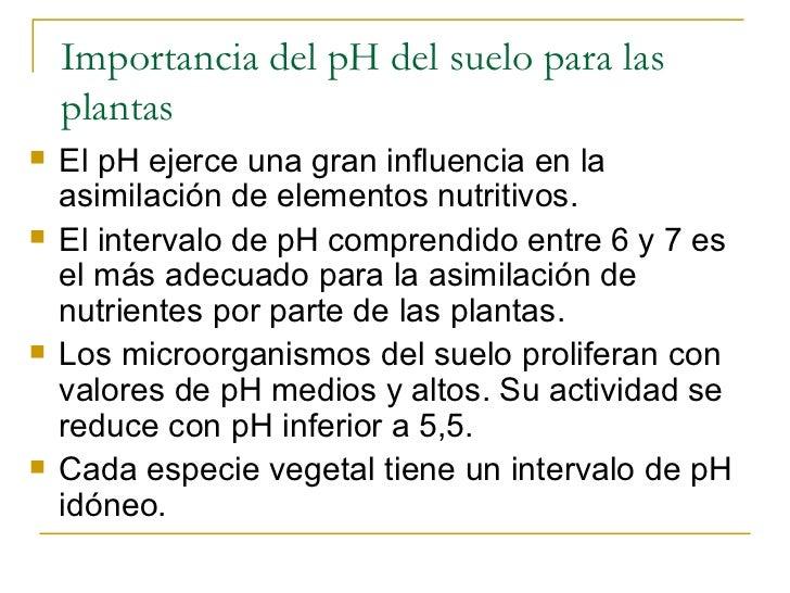 Propiedades quimicas for Importancia de los suelos