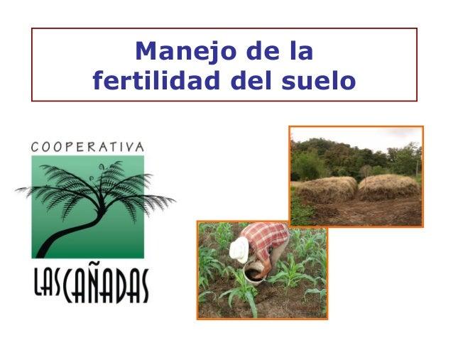 Manejo de lafertilidad del suelo