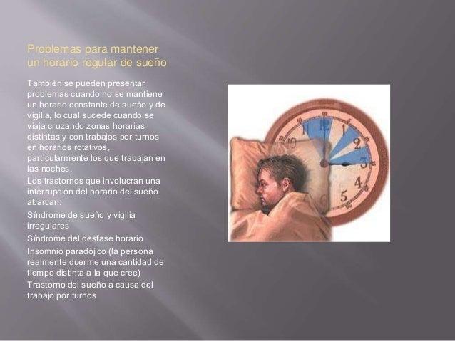 Conductas que interrumpen el sueño Las conductas anormales durante el sueño se denominan parasomnio. Son bastante comunes ...