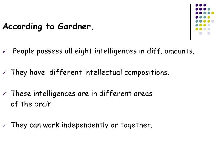 Creative Teaching Activities for the Multiple Intelligences – Multiple Intelligence Worksheet
