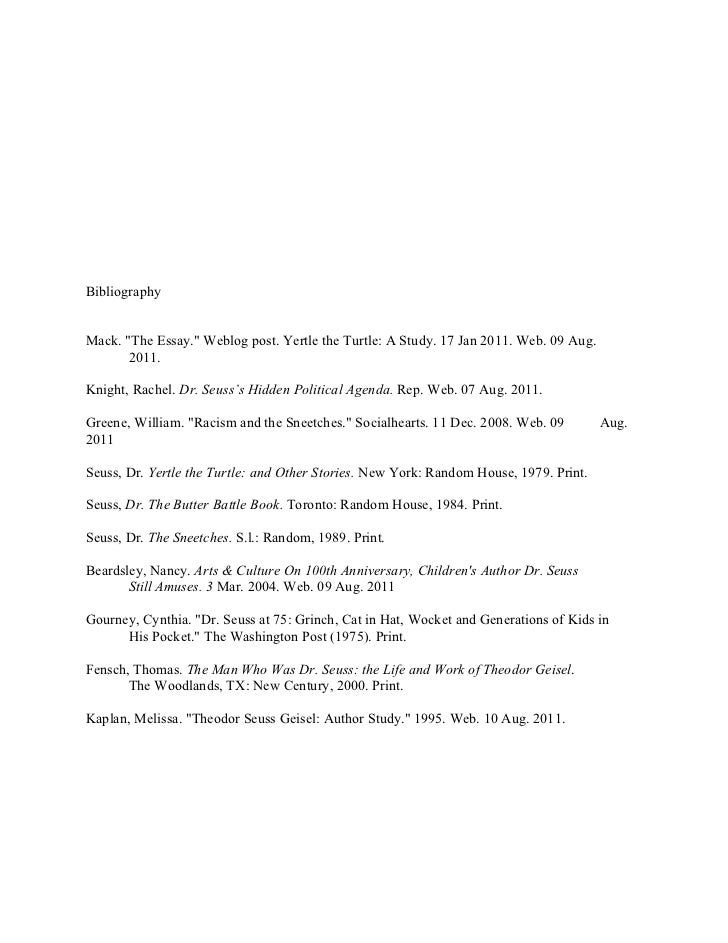 the political and social influence of dr seuss 5 bibliographymack the essay