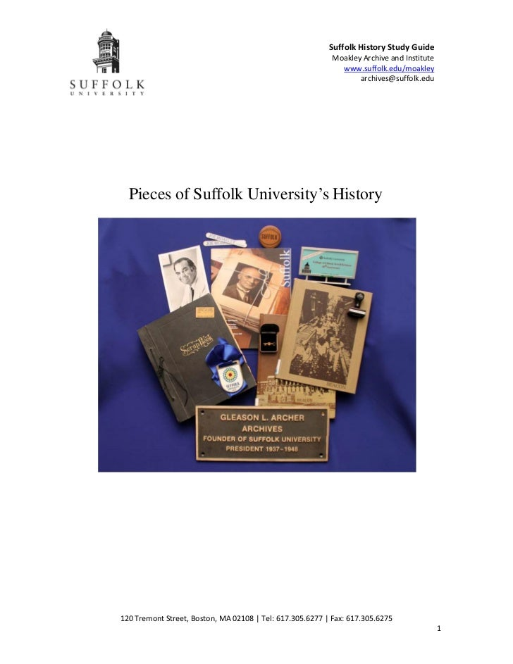 Suffolk History Study Guide                                                           Moakley Archive and Institute       ...