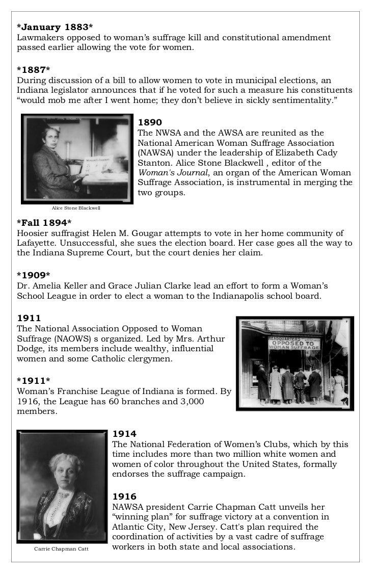 Suffrage timeline Slide 3