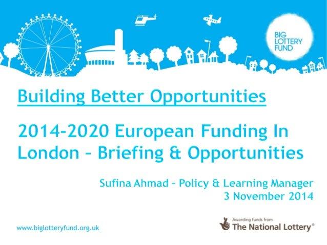 Building Better Opportunities London