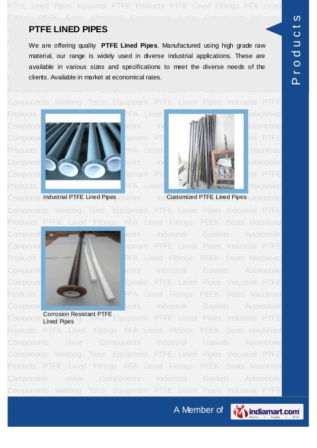 PTFE Lined Pipes Industrial PTFE Products PTFE Lined Fittings PFA LinedFittings   PEEK   Seats   Machined   Components    ...