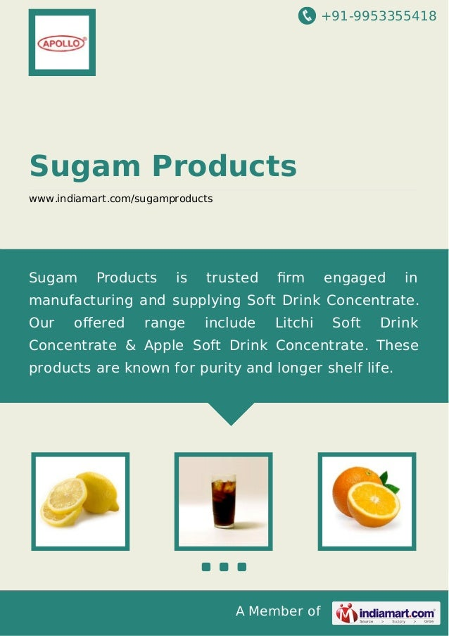 Sugam Products, Rajkot, Cola T Soft Drink Concentrate