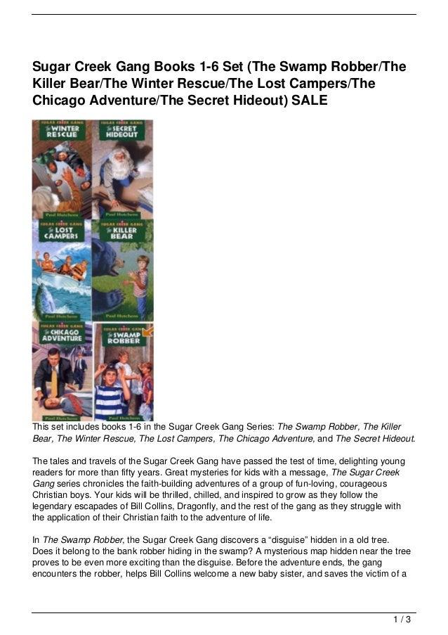 Sugar Creek Gang Books 1 6 Set The Swamp Robberthe Killer Bearthe