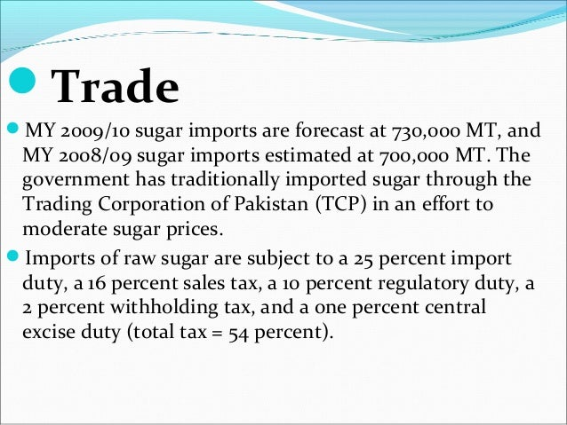 sugar industry of pakistan Introduction overview of the sugar industry of pakistan pakistan is the 5th largest country in the world in terms of area under sugarcane cultivation, 11th by production and 60th by yield sugarcane is the primary raw material for the production of sugar.