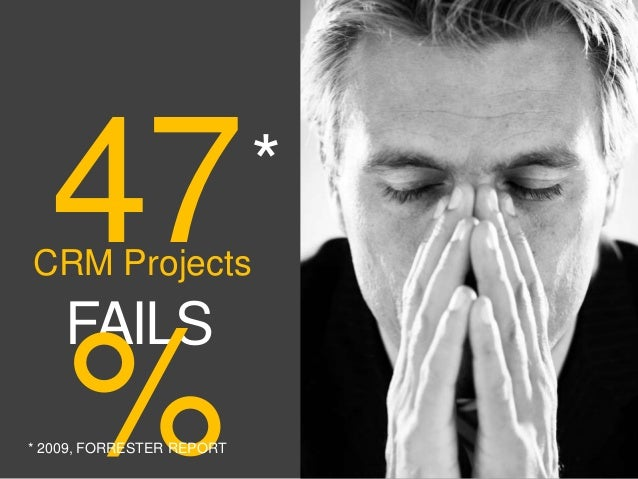 CRM ProjectsFAILS47%** 2009, FORRESTER REPORT