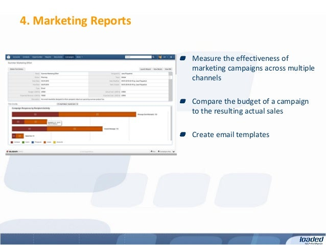 4. Marketing Reports                       Measure the effectiveness of                       marketing campaigns across m...