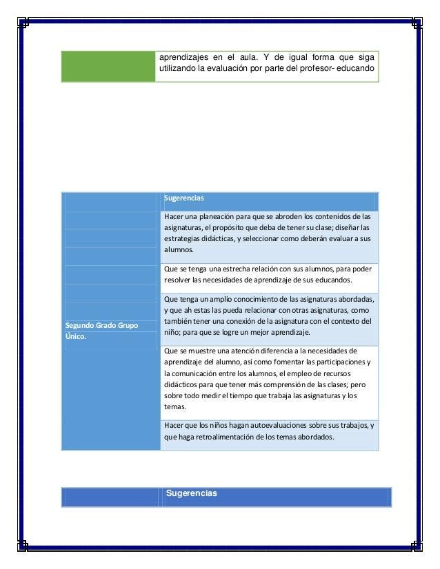 Sugerencias para la mejora del desempeño en el aula y la práctica docente Slide 2