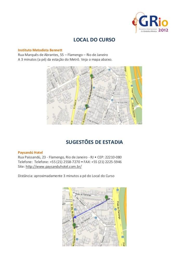 LOCAL DO CURSOInstituto Metodista BennettRua Marquês de Abrantes, 55 – Flamengo – Rio de JaneiroA 3 minutos (a pé) da esta...
