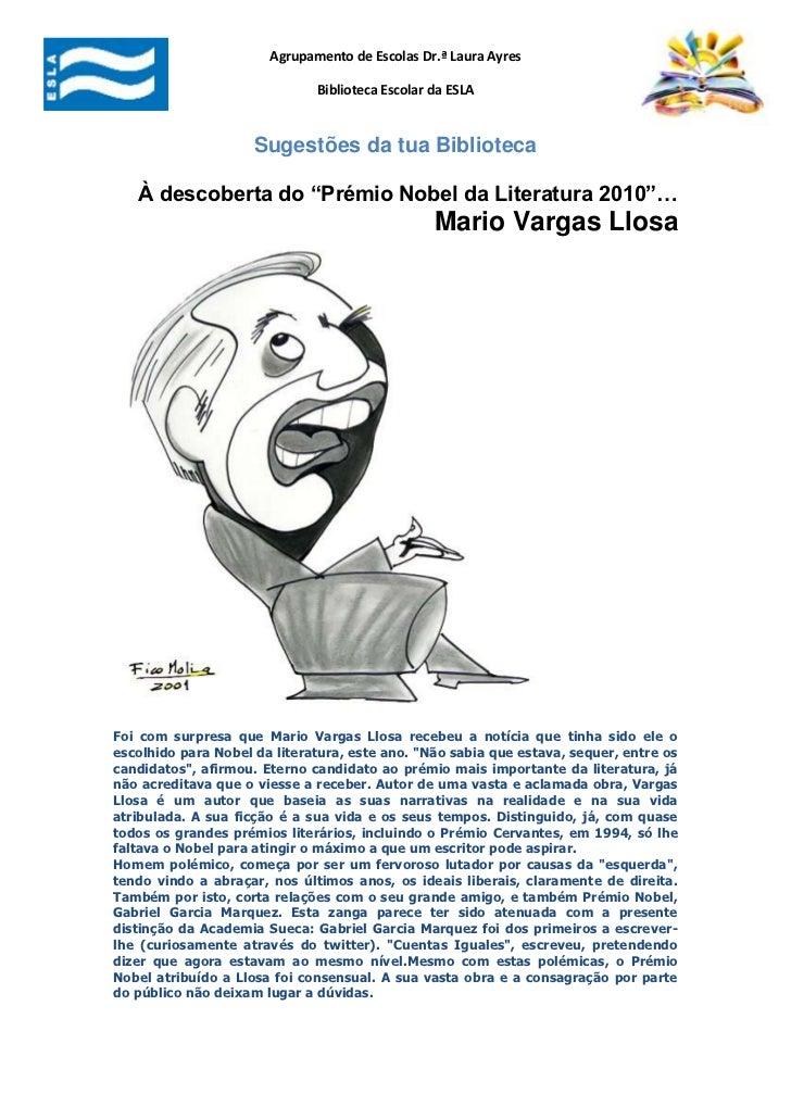 "-661035-904240Sugestões da tua Biblioteca<br />À descoberta do ""Prémio Nobel da Literatura 2010""… Mario Vargas Llosa<br />..."
