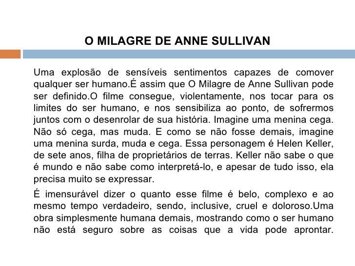 O ANNE FILME BAIXAR SULLIVAN DE MILAGRE