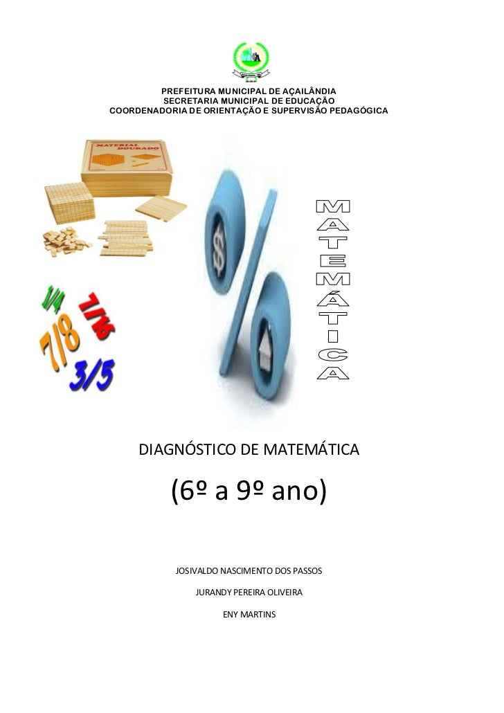 PREFEITURA MUNICIPAL DE AÇAILÂNDIA         SECRETARIA MUNICIPAL DE EDUCAÇÃOCOORDENADORIA DE ORIENTAÇÃO E SUPERVISÃO PEDAGÓ...
