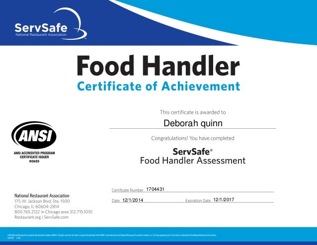 Sugga serve safe certification!