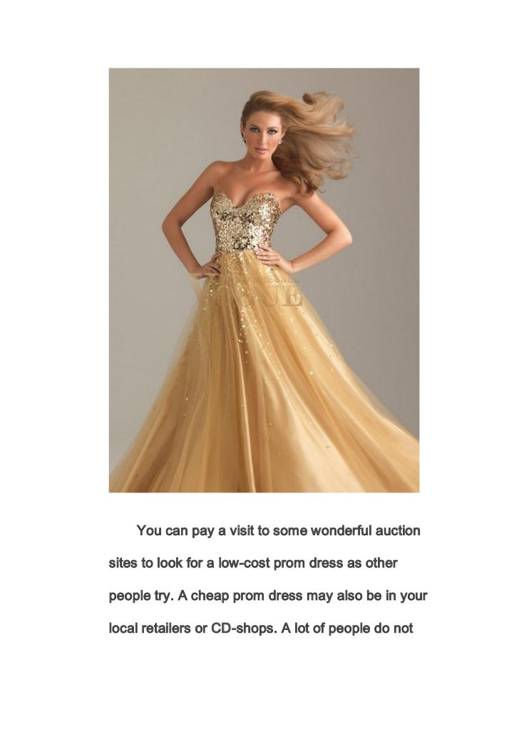 Low Cost Prom Dresses