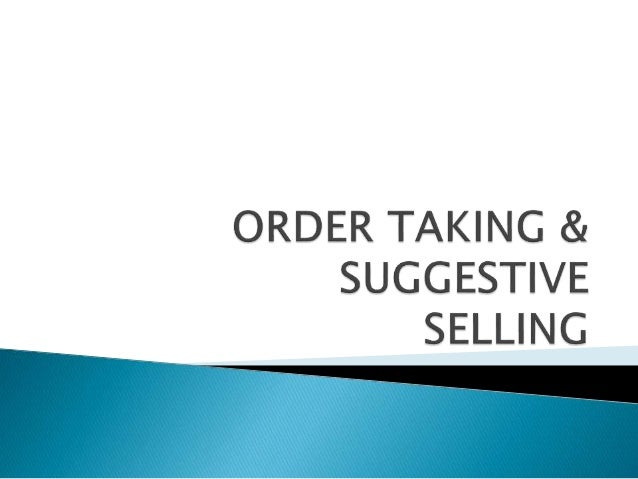 suggestive selling is an art